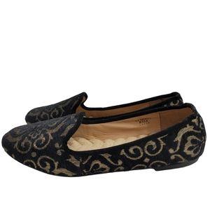 Avon Cushion Walk Black Gold Comfort Flats 8